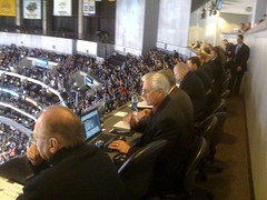 The sportswriters & statisticians here at the #LAkings press box