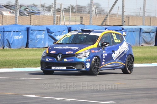 James Dorlin in Clio Cup qualifying during the BTCC Weekend at Donington Park 2017: Saturday, 15th April
