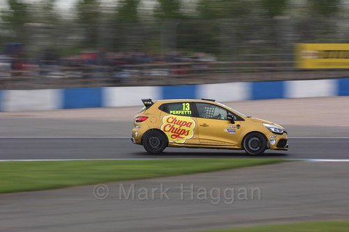 Ambrogio Perfetti in Renault Clio Cup Race Three at the British Touring Car Championship 2017 at Donington Park