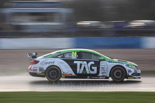 Jake Hill in race three at the British Touring Car Championship 2017 at Donington Park