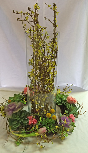 Spring Foyer Flowers - Shirley's Flowers & Gifts, Inc., in Rogers, Ark.