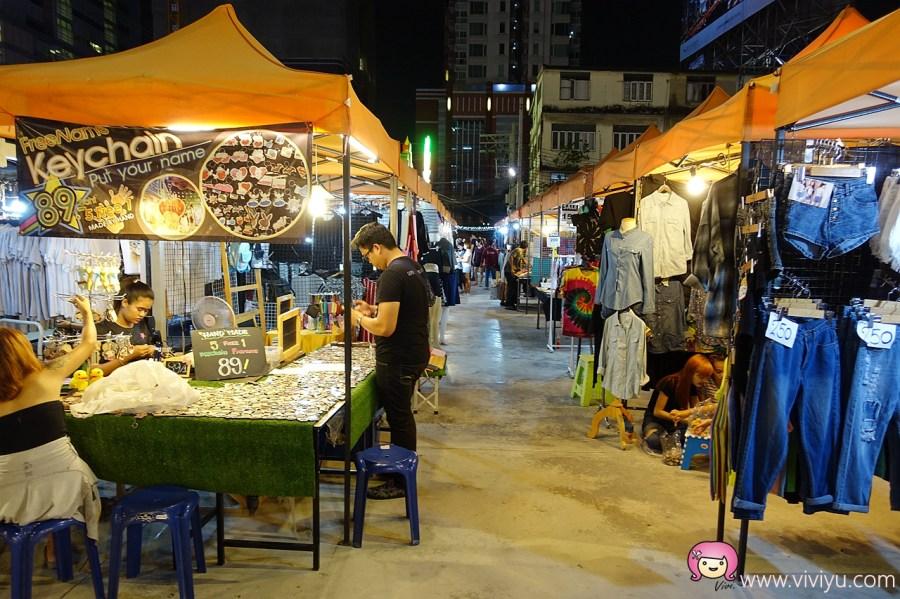BTS奇隆站,TALAD NEON,曼谷夜市,曼谷景點,水門市場,泰國,泰國自由行,霓虹夜市 @VIVIYU小世界