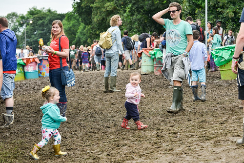 Scenes at Glastonbury 2016