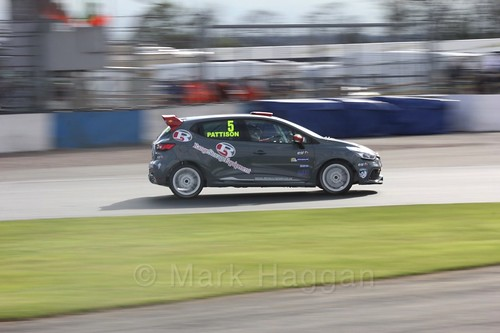 Lee Pattison in Renault Clio Cup Race Three at the British Touring Car Championship 2017 at Donington Park
