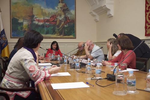 Reunión con los directores de las escuelas de arte y el director general de FP del Gobierno de Canarias