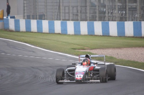 Karl Massaad in British F4 Race Two during the BTCC Weekend at Donington Park 2017