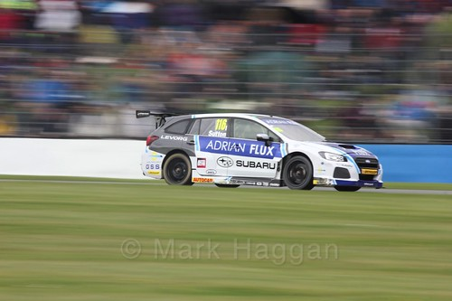 Ashley Sutton in race one at the British Touring Car Championship 2017 at Donington Park