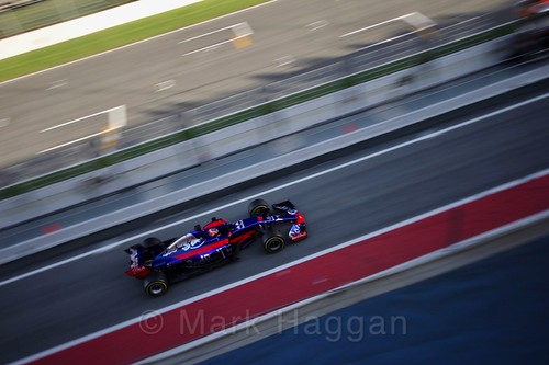 Carlos Sainz Jr in his Toro Rosso in Formula One Winter Testing 2017