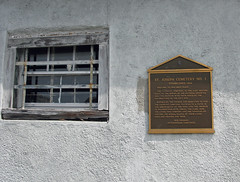 St Joseph plaque on groundskeeper
