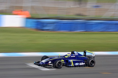 Logan Sargeant in British F4 Race One during the BTCC Weekend at Donington Park 2017: Saturday, 15th April