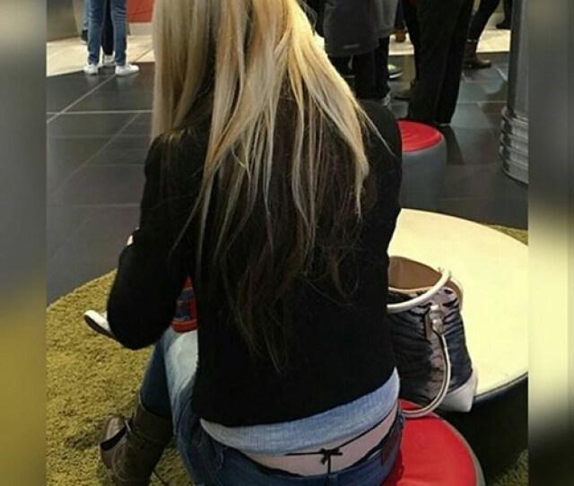 Blonde Thong Slip