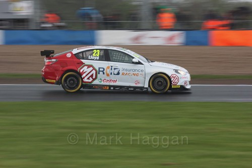 Daniel Lloyd in race three at the British Touring Car Championship 2017 at Donington Park