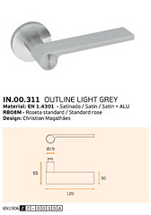 IN.00.311 OUTLINE LIGHT GREY