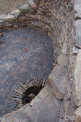 WM Dale Mitchell Landscape 7, Fire place, Flat work, Retaining wall, dry laid stone construction, copyright 2014