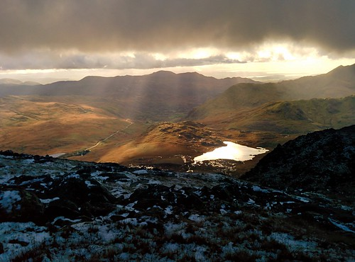 Sunbeams over Snowdonia