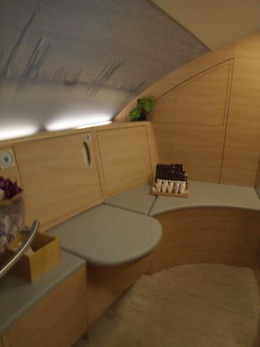 エミレーツA380ファーストクラスのトイレ