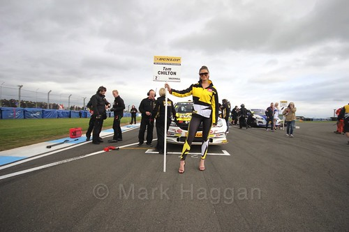 Tom Chilton on the grid for race two at the British Touring Car Championship 2017 at Donington Park