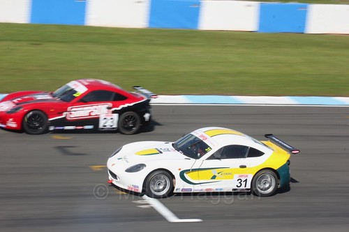 Charlie Digby in Ginetta Junior Race One during the BTCC Weekend at Donington Park 2017