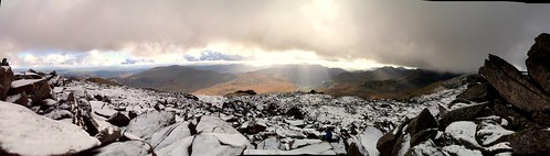 Snow and Sunshine from Glyder Fawr
