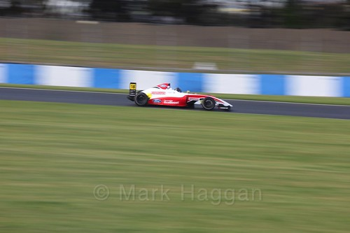 Hampus Ericsson in British F4 Race Two during the BTCC Weekend at Donington Park 2017