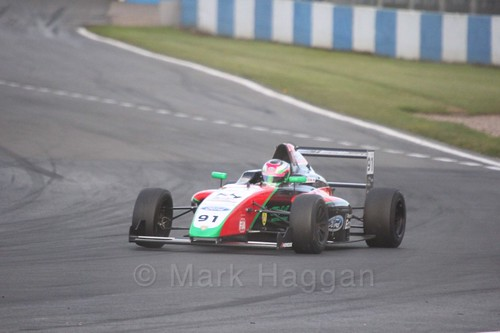 Liu Zhuangling in British F4 Race Two during the BTCC Weekend at Donington Park 2017