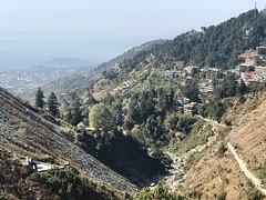 View from Bhagsu Nag Waterfall Hike, dharamsala, India