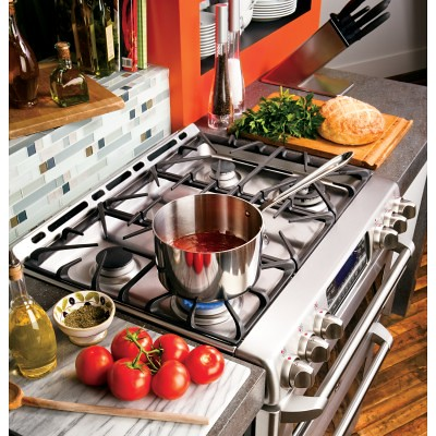 """GE CGS990SETSS Cafe 30"""" Stainless Steel G..."""