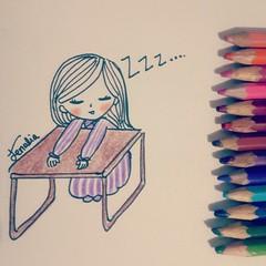 tired and sleepy
