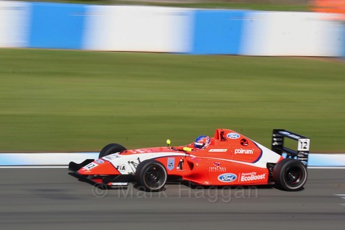 Ayrton Simmons in British F4 Race One during the BTCC Weekend at Donington Park 2017