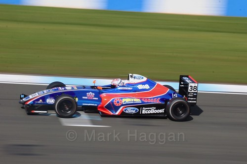 Jamie Caroline in British F4 Race One during the BTCC Weekend at Donington Park 2017