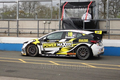 Senna Proctor after race two at the British Touring Car Championship 2017 at Donington Park