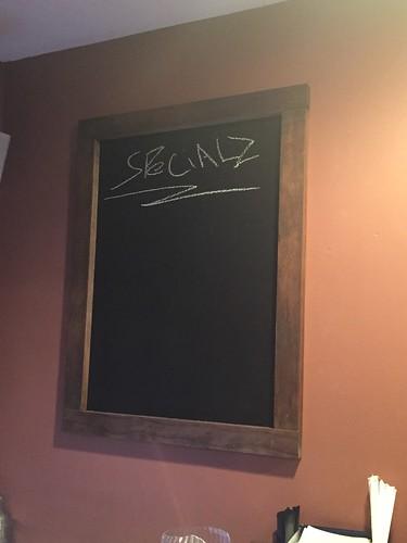 New pub chalkboard
