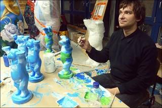 Andrej Wolff im Atelier