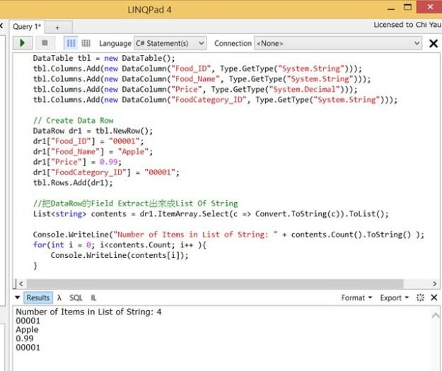.Net - Convert DataRow to List of String
