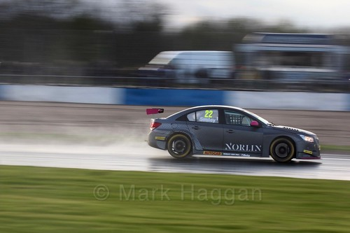 Chris Smiley in race three at the British Touring Car Championship 2017 at Donington Park