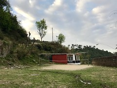 Primary School with Volleyball net, Rakh, Himachal Pradesh, India