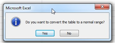 Do you want to convert the table to normal range?