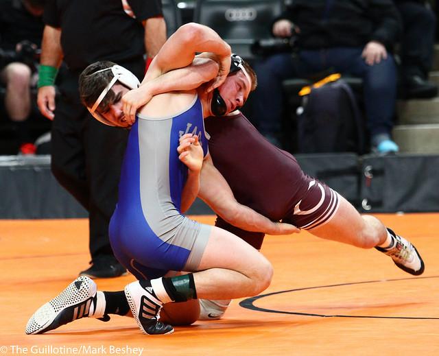 145A - Semifinal - Jake Mandt (Chatfield) 31-2 won by decision over Adam Jaeger (Belgrade-Brooten-Elrosa) 43-3 (Dec 5-2)