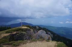 Vedere spre vest de pe vârf