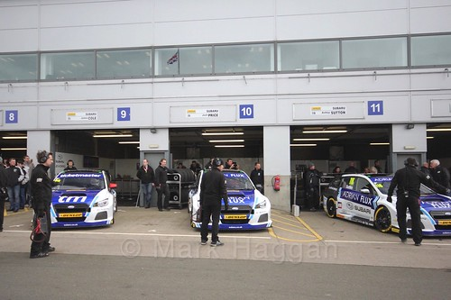 Team BMR before race two at the British Touring Car Championship 2017 at Donington Park