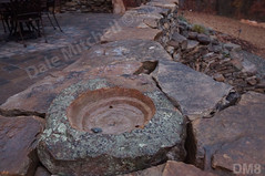 WM Dale Mitchell Landscape 8, Fire place, Flat work, Retaining wall, dry laid stone construction, copyright 2014