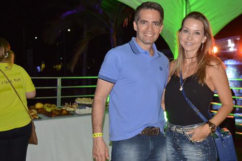 O casal mais bonito do vale, Paulo Novais, diretor da Aperam, com sua Roberta
