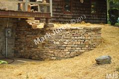 WM Mark Jurus 3, retaining wall, flat cap stones, dry laid stone construction, copyright 2014