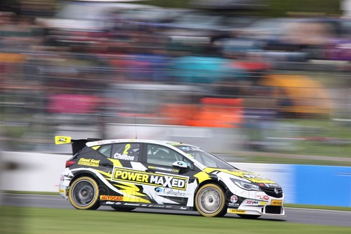 Tom Chilton in race one at the British Touring Car Championship 2017 at Donington Park