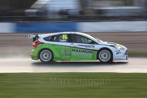 Josh Cook in race three at the British Touring Car Championship 2017 at Donington Park