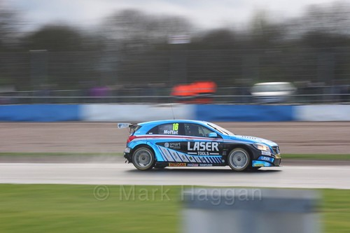 Aiden Moffat in race three at the British Touring Car Championship 2017 at Donington Park