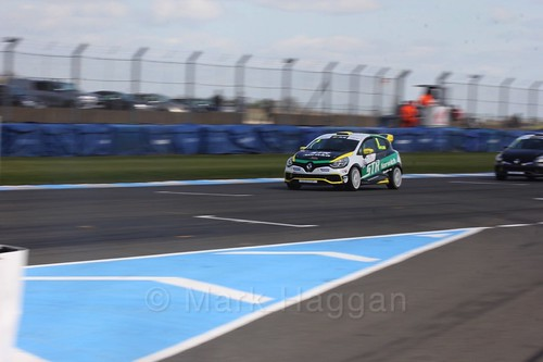 Shawn Taylor in Clio Cup qualifying during the BTCC Weekend at Donington Park 2017: Saturday, 15th April