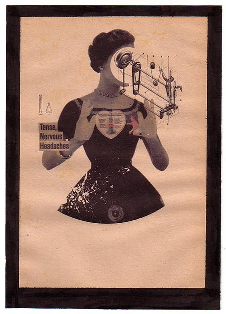 Premonition [Digital Collage on Vintage Paper]