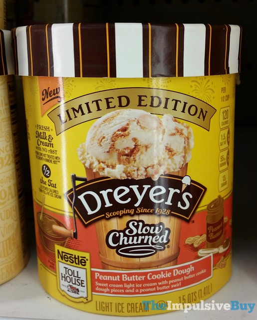 Limited Edition Dreyer's Slow Churned Nestle Toll House Peanut Butter Cookie Dough Ice Cream