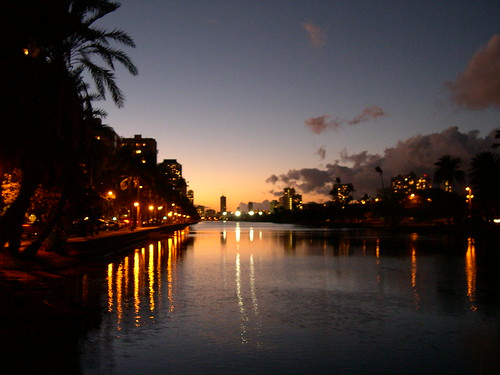 Ala Wai Canal looking west